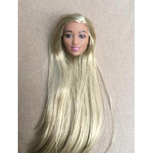 Голова куклы AliExpress Rare New Long Hair Doll Head Collection Gold Rooted Hair Doll Heads 1/6 Lady Toy Head DIY Toy Parts Male Female Doll Heads фото
