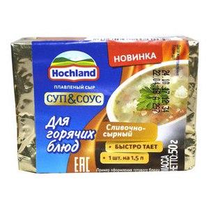 Сыр плавленый Hochland  «Суп и Соус» для горячих блюд в блочках фото
