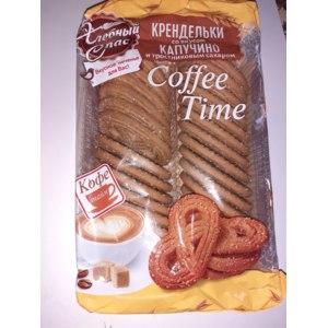 Печенье Хлебный спас Крендельки со вкусом капучино и тростниковым сахаром фото