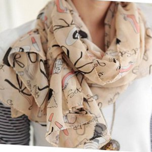 Шарф Aliexpress Lipstick high-heeled shoes scarf autumn and winter female women's cape фото