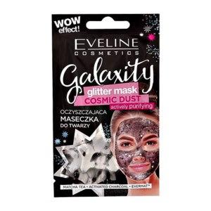 Маска для лица Eveline Galaxity Glitter mask Cosmic dust активно очищающая  фото