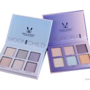 Хайлайтер Aliexpress MISS ROSE Kit Palette Shimmer Highlighter Wet Soft Powder Cream Illuminate Face Contour Rainbow Star Box Make Up Maquiagem фото