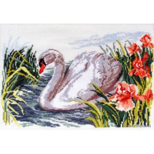 "Набор для вышивки ""Белый лебедь"", Алиса, Артикул: 1-02 фото"