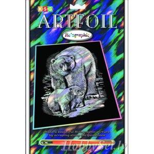 Голографическая гравюра ARTFOIL «Polar Bear» арт. 0545-0548 фото