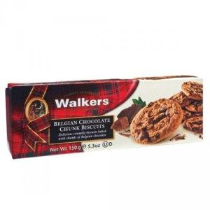 Печенье Walkers Belgian Chocolate Chunk Biscuits с шоколадной крошкой фото