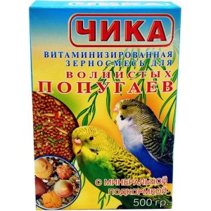 """""""Чика"""" Витаминизированная зерносмесь для волнистых попугаев с минеральной подкормкой фото"""