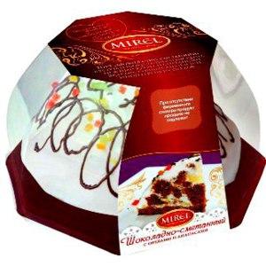 Торт Mirel «Шоколадно-сметанный с орехами и ананасами»  фото