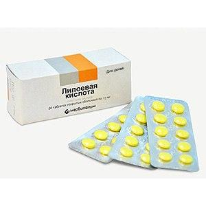 Таблетки для похудения с липоевой кислотой