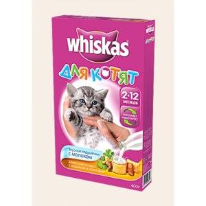 (Вискас) для котят - Вкусные подушечки с молоком фото