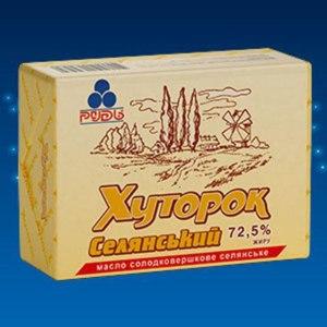 Масло сливочное Рудь «Хуторок Крестьянский» фото