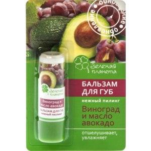 """Бальзам для губ Зелёная планета Нежный пилинг """"Виноград и масло авокадо"""" фото"""