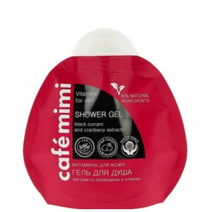 Гель для душа Cafe mimi Vitamins for skin/витамины для кожи. Экстракты смородины и клюквы  фото