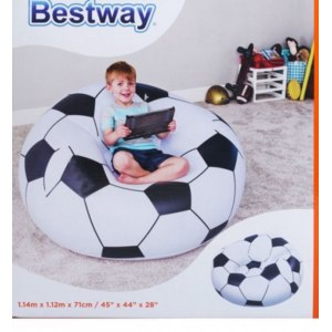 """Детская мебель Bestway Надувное кресло """"Футбольный мяч"""" 75010 фото"""
