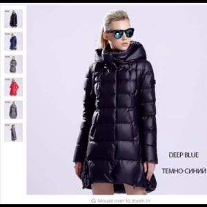Пуховик AliExpress MIEGOFCE 2015 New Winter Women Clothes Collection warm womens Parka Medium Length High Collar Hood Jacket Coat European Style фото