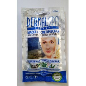 Маска для лица Dermalspa Целебная голубая глина фото