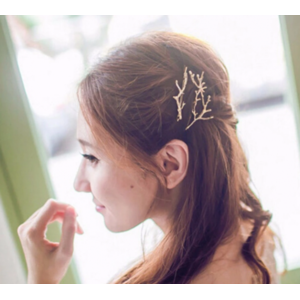 Заколка для волос Aliexpress New Arrival 1 Piece Fashion Women Hairpins Girl Barrette Silver Gold Metal Tree Branches Antlers Hair Clips Hair Accessories фото