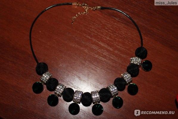 Ожерелье Aliexpress Fashion Vogue Green Round Crystal Rhinestone Cut Women Leather Pendant Necklace фото