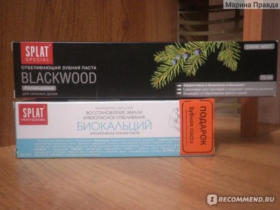 Зубная паста SPLAT BLACKWOOD фото