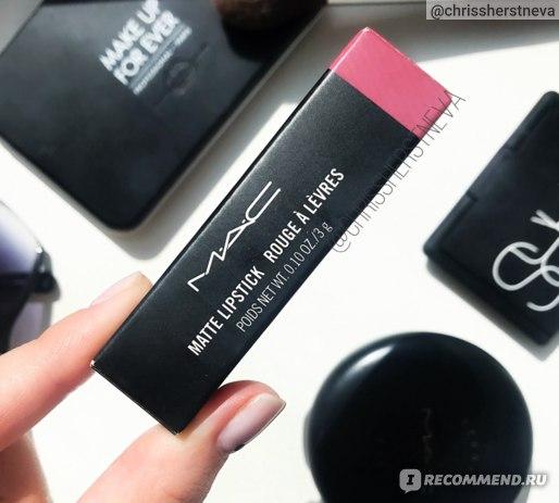Губная помада MAC Matte Lipstick 608 Mehr - отзыв