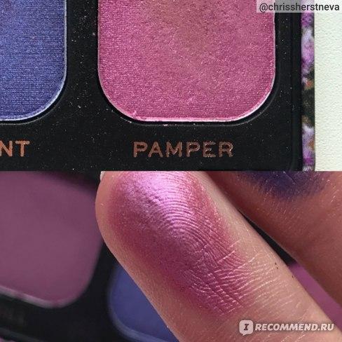 PAMPER - лиловый сатин, выглядит неприметным, но на глазах даёт яркий красивый блик