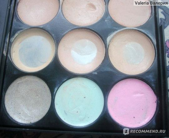 Палетка Aliexpress  Professional  15 Colors Concealer Contour Face Cream Makeup Palette фото