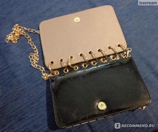 Клатч Aliexpress diary color block women's handbag chain bag vintage envelope clutch bag фото