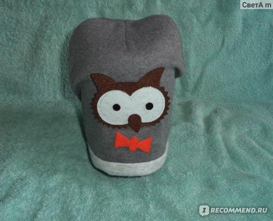Шапочка Aliexpress New Baby Boys Girls Hat Cotton Blends Caps Newborn Infant Baby Hat Owl Print фото