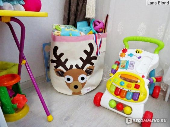 Обстановка ПОСЛЕ приобретения корзины для игрушек 3 sprouts Олень