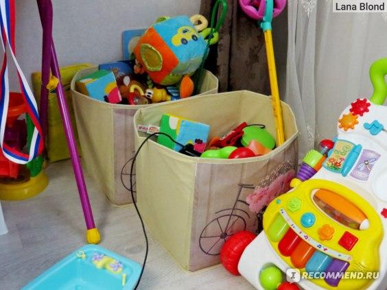 Коробки в которых ранее мы хранили игрушки