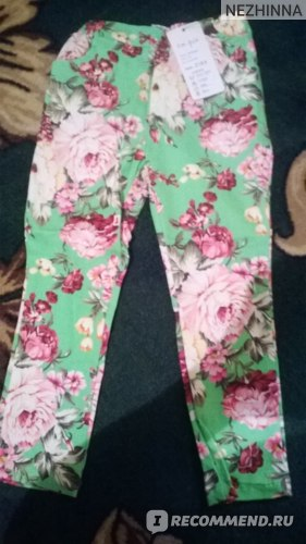 Штаны AliExpress New hot 2013 Spring female child vintage flower slim skinny pants фото