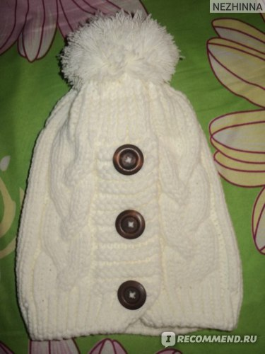 Шапка AliExpress New Women Hat Button Twisted Knitted Hat Female Knitting Wool Warm Hat  фото