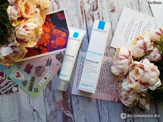 Корректирующий крем-гель для проблемной кожи, против несовершенств и постакне La Roche-Posay Effaclar DUO[+]
