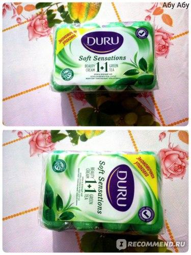 """Мыло Duru """"Экстракты зелёного чая + увлажняющий крем"""" фото"""