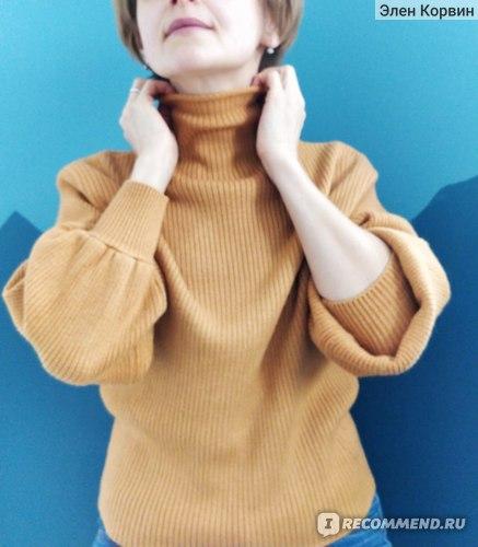 Свитер AliExpress New Women's Coarse Wool Sweater Warm Spring Autumn Winter Casual Sleeved Pullover фото