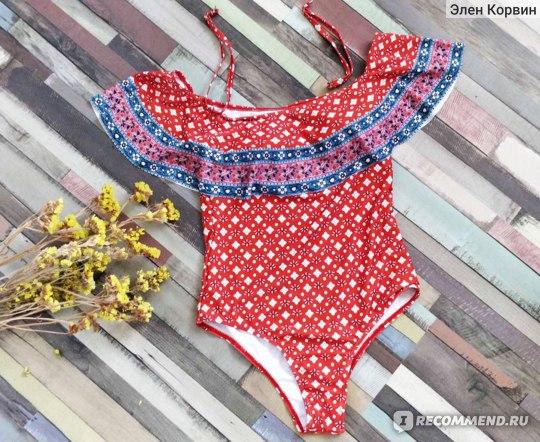 Купальник сплошной AliExpress New Women Plussize Swimwear One Piece Swimsuit Swimming Suits Plus Big Size 2020 Beachwwear Bathing Wear Larges фото