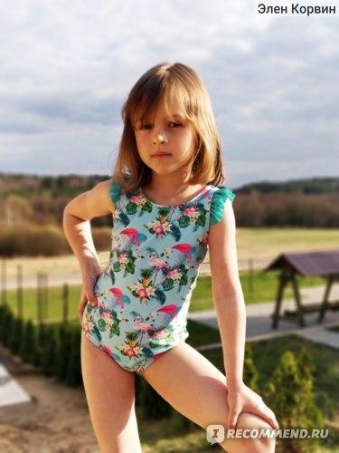 Детский купальник AliExpress Sport Girls Swimwear 3-10Years Children Swimsuit One Piece Girls Swimsuit Kid Girls Bathing Suit Beach Wear фото