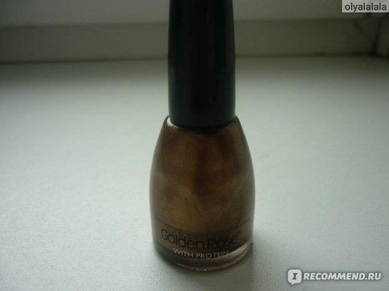 Лак для ногтей Golden Rose with protein nail lacquer фото