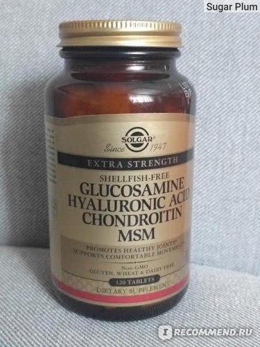 БАД Solgar Глюкозамин, гиалуроновая кислота, хондроитин и МСМ фото