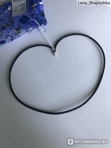 Шнурок Imagine Italia с серебряным замком из натуральной кожи, плетеная 3мм отзыв
