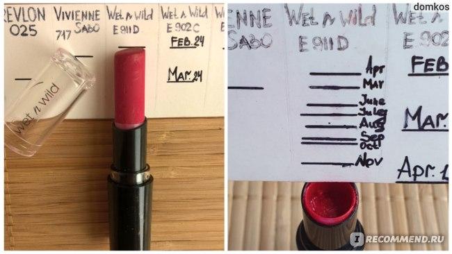Помада Wet n wild E911D Stoplight red