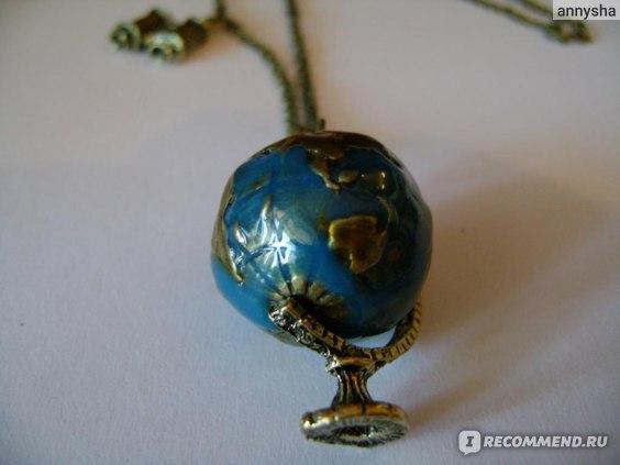 Кулон Aliexpress New Vintage Globe Telescope Necklace, Long Chain Fashion Jewelry фото