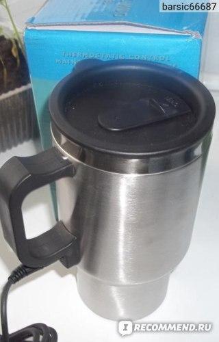 Автомобильная кружка TinyDeal (Car 12V Adapter Electric Heated Stainless Steel Mug Hot Coffee Drink Travel Cup HLI-132598) фото