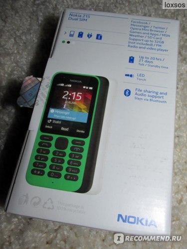 Мобильный телефон Nokia 215 фото