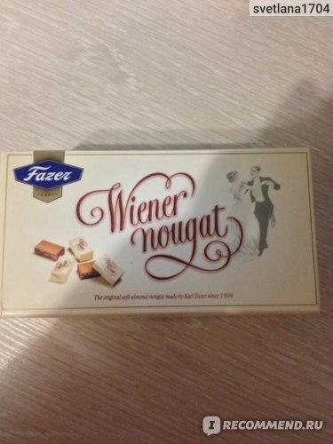 Конфеты Fazer wiener nougat фото