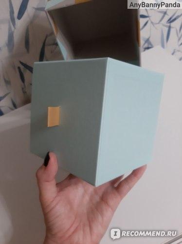 Мини-комод IKEA Ланкмой с 2 ящиками, голубой/разноцветный фото