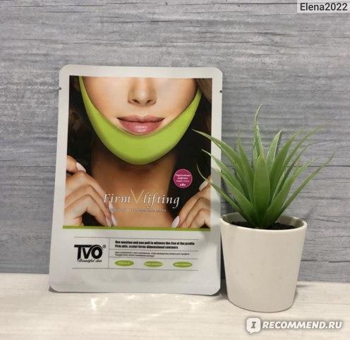 Маска-бандаж TVO Firm lifting Укрепляющая маска для подтяжки и укрепления контура лица с лифтинг эффектом фото