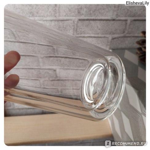 Термобутылка EcoFamilyShop с бамбуковой крышкой фото