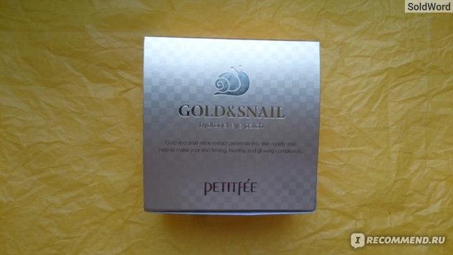 Гидрогелевые патчи для глаз Petitfee Gold&Snail hydrogel eye patch фото