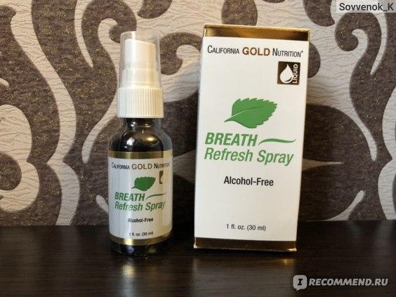 Спрей для свежести дыхания California Gold Nutrition Breath Refresh Spray фото