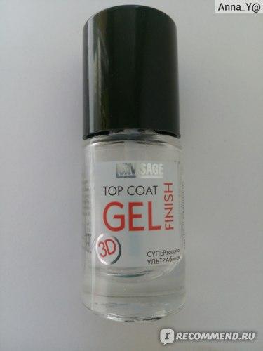 Верхнее покрытие лака для ногтей LUXVISAGE Top Coat Gel Finish фото